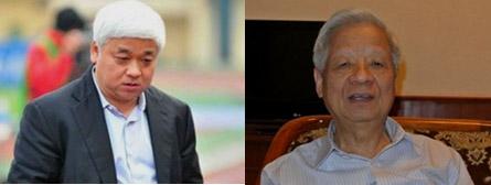 Trong vụ án bầu?Kiên (trái), ông Trần Xuân Giá (phải) và nhiều quan chức cấp cao của Ngân hàng ACB đã bị siêu lừa Huỳnh Thị Huyền Như qua mặt.