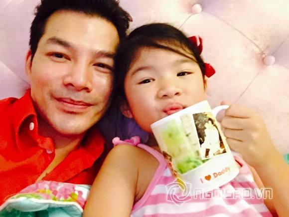Trần Bảo Sơn và con gái 1