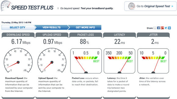 MegaPath Speed Test