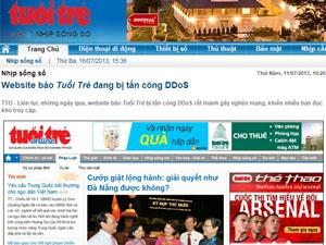 báo điện tử bị tấn công DdoS