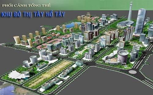 dự án khu đô thị hồ tây