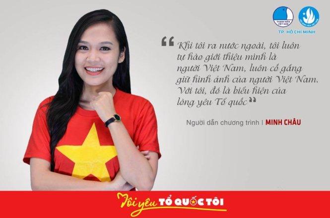 """Một nghệ sĩ VN bày tỏ ý kiến trong chương trình """"Tôi yêu Tổ quốc tôi"""" do Hội LHTN Việt Nam phát động nhân dịp Quốc khánh 2-9-2015."""