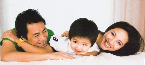 Gia đình nhỏ của Đặng Cảnh Huy.