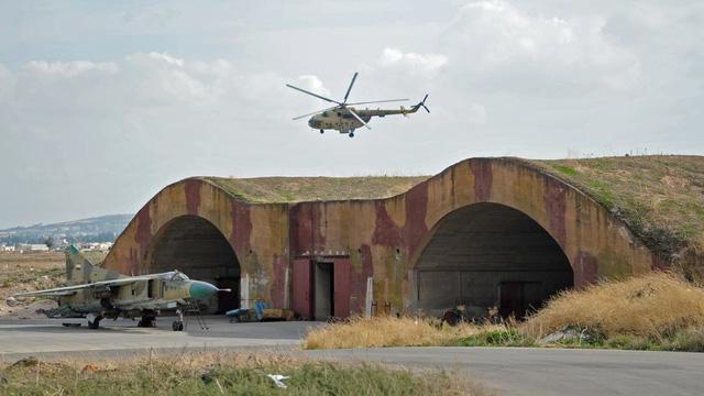 Một căn cứ không quân ở Syria (Ảnh: Sputnik)