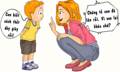 Con trai buồn vì phải trưởng thành