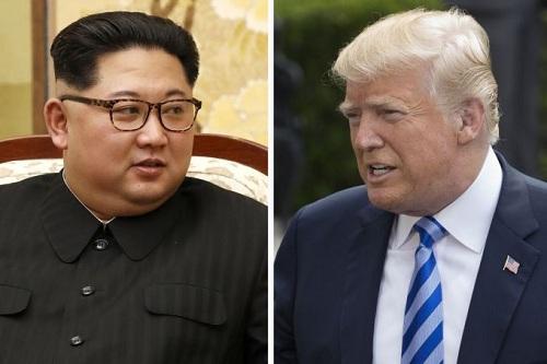 Lãnh đạo Triều Tiên Kim Jong-un (trái) và Tổng thống Mỹ Donald Trump. Ảnh: AFP.