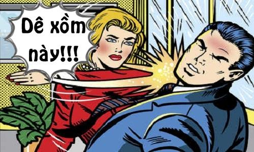Vợ hả hê khi chồng bị gái đẹp tát tai