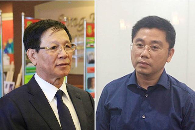 Bị can Phan Văn Vĩnh (trái) và bị can Nguyễn Văn Dương.