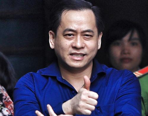 Phan Văn Anh Vũ khi hầu tòa tại TP HCM. Ảnh: Hữu Khoa.
