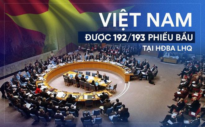 Việt Nam trúng cử uỷ viên không thường trực HĐBA LHQ với số phiếu 192/193 - Ảnh 1.