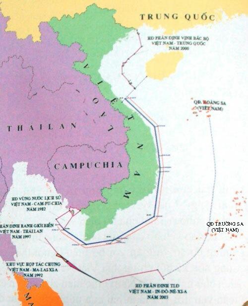Các vùng biển của Việt Nam theo quy định của UNCLOS. Đồ họa: Camau.gov.vn.