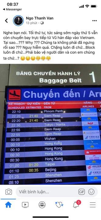 Ngo Thanh Van bi phan ung khi dua tin sai giua dai dich virus corona hinh anh 1 84165001_3445896932149343_161498621529817088_n.jpg