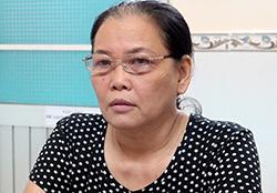 Nguyễn Thị Kim Phương tại cơ quan điều tra. Ảnh: Công an cung cấp