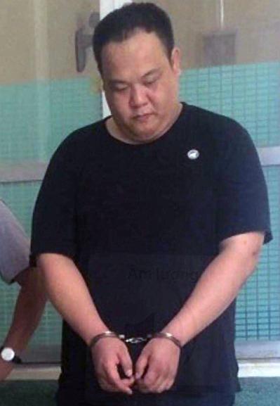 Chiang Wei Chih lúc bị bắt. Ảnh: Công an cung cấp.