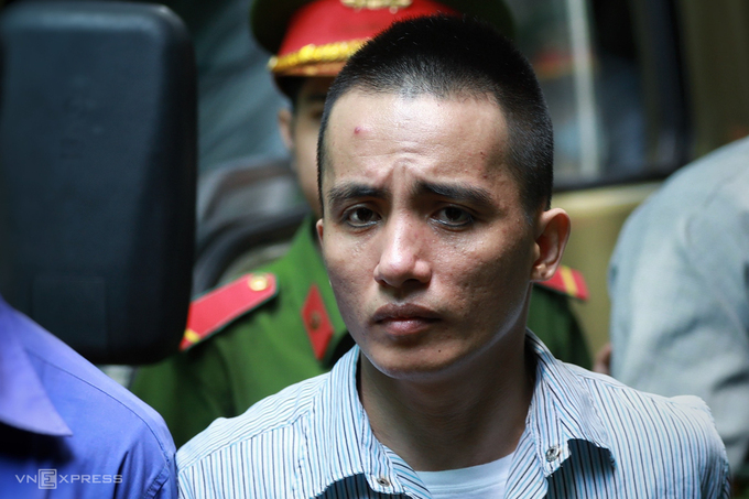 Lê Văn Mang trong ngày xét xử ngày 16/7. Ảnh: Hữu Khoa.