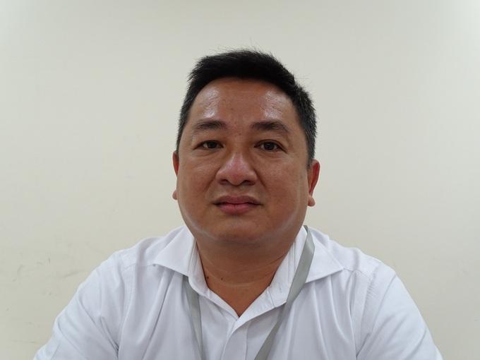 Ông Đặng Phú Thành, Trưởng phòng Hạ tầng Kỹ thuật, Sở Xây dựng TP HCM chia sẻ về thu phí dịch vụ thoát nước, trưa 17/8. Ảnh: Hà An.