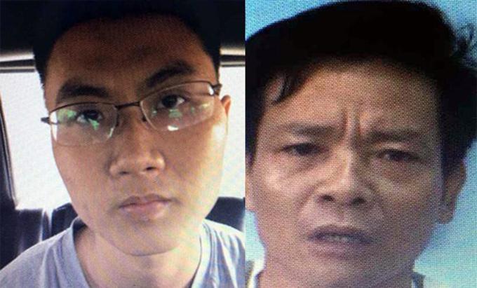 Võ Hoàng Nam (đeo kính) và đồng phạm trong tổ chức Triều Đại Việt. Ảnh: Công an cung cấp.