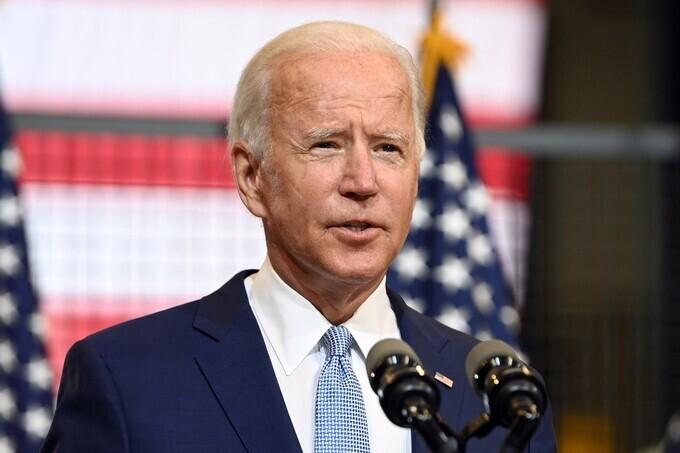 Ứng viên tổng thống đảng Dân chủ Joe Biden tại bang Pennsylvania, Mỹ, ngày 31/8. Ảnh: Reuters.