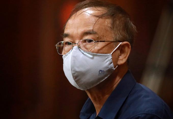 Cựu Phó chủ tịch thường trực Nguyễn Thành Tài tại tòa sáng 18/9. Ảnh: Hữu Khoa.