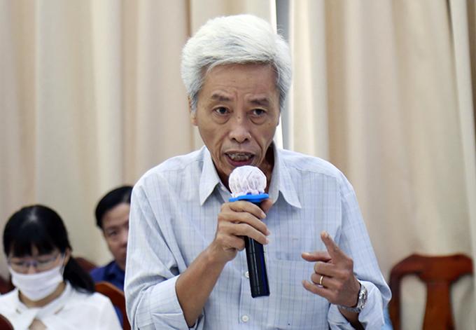 Thiếu tướng Phan Anh Minh, nguyên Phó giám đốc Công an TP HCM phát biểu tại hội nghị sáng nay. Ảnh: Hữu Công