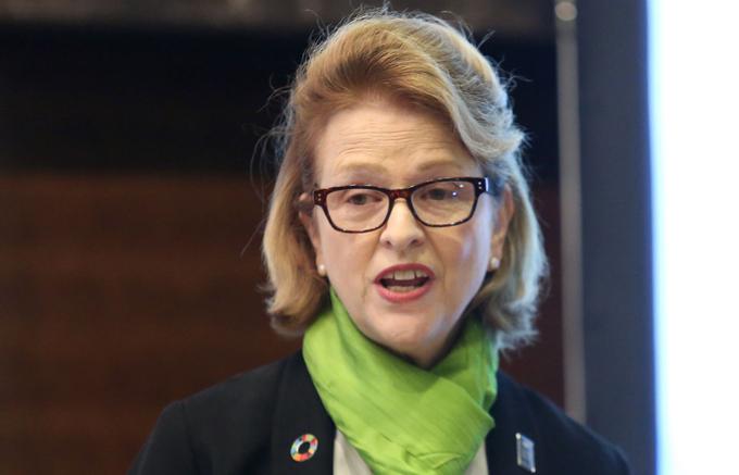 Bà Caitlin Wiesen, Trưởng đại diện Chương trình Liên hợp quốc tại Việt Nam. Ảnh: Gia Chính