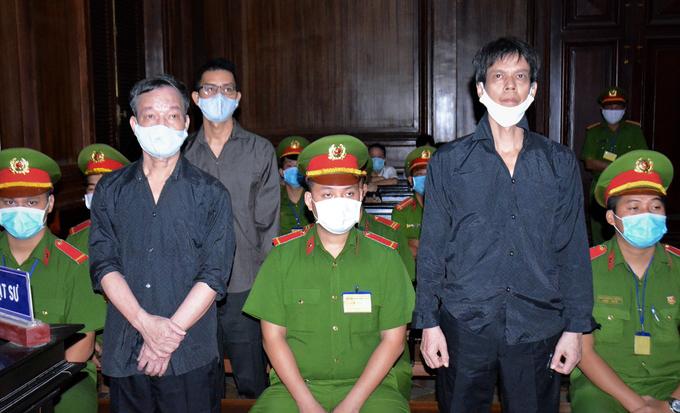 Các bị cáo tại tòa hôm nay. Ảnh: Trung tâm báo chí TP HCM.