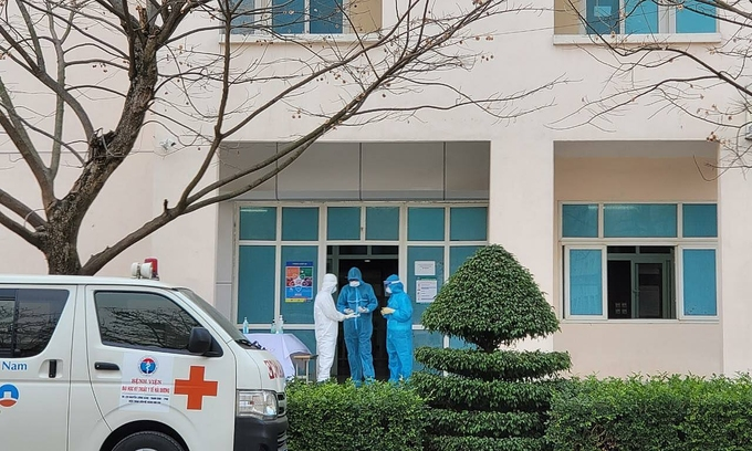 Y bác sĩ làm việc tại Bệnh viện dã chiến số 2, Hải Dương. Ảnh do bác sĩ cung cấp.