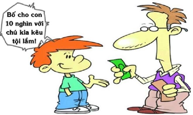 Bố tưởng bở khi con trai xin tiền - 1
