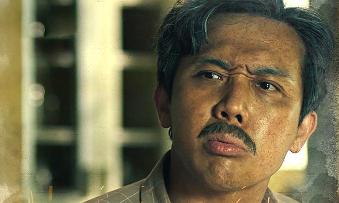 Trấn Thành trong vai Ba Sang - nhân vật chính Bố già. Ảnh: Thanh Huyền.