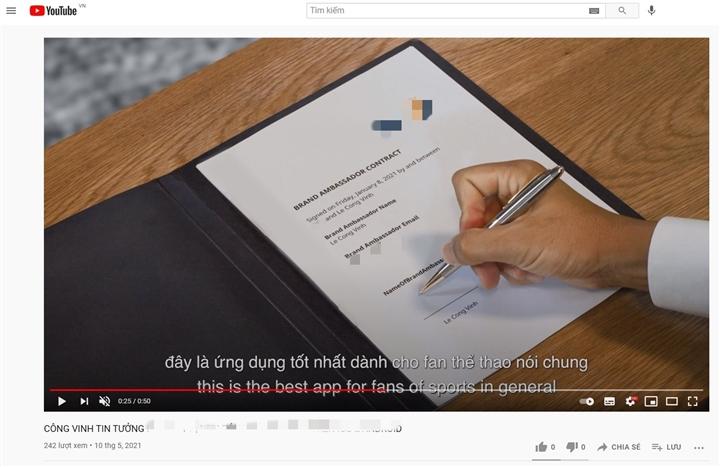 Công Vinh xuất hiện trong quảng cáo ứng dụng cá độ bóng đá - 2