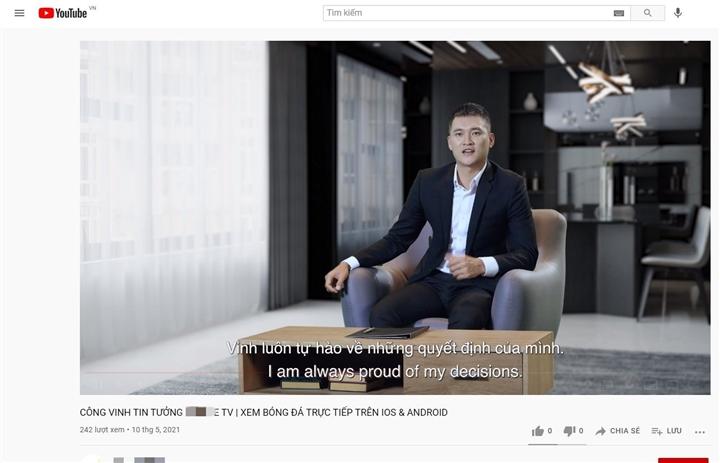 Công Vinh xuất hiện trong quảng cáo ứng dụng cá độ bóng đá - 4