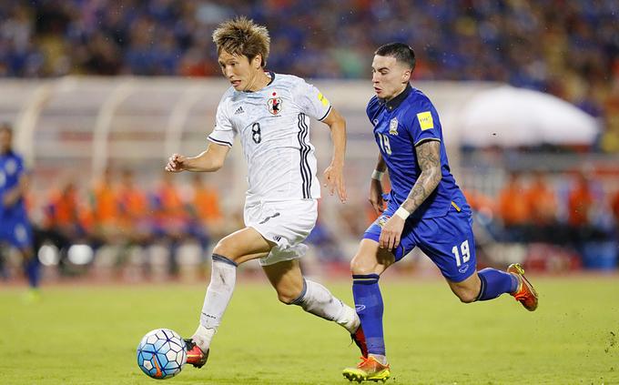 Thái Lan (áo xanh) hai lần vào vòng loại cuối World Cup nhưng chưa thắng trận nào. Ảnh: Nipponnews