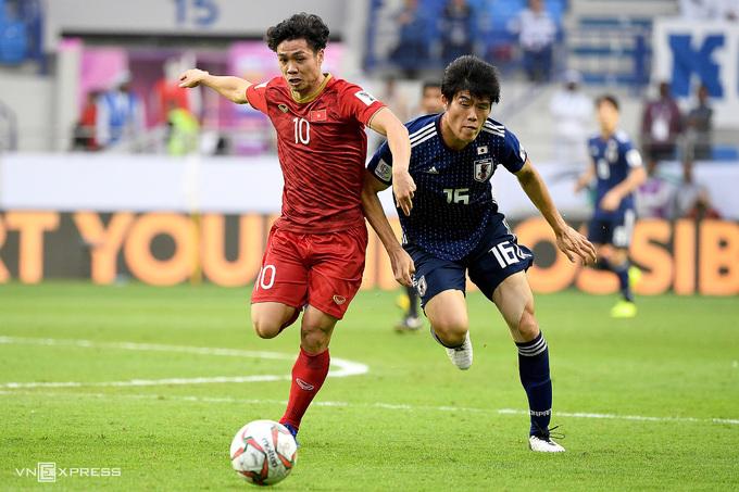 Công Phượng và đồng đội sẽ tái ngộ Nhật Bản, đội từng thắng Việt Nam 1-0 ở tứ kết Asian Cup 2019. Ảnh: Đức Đồng.