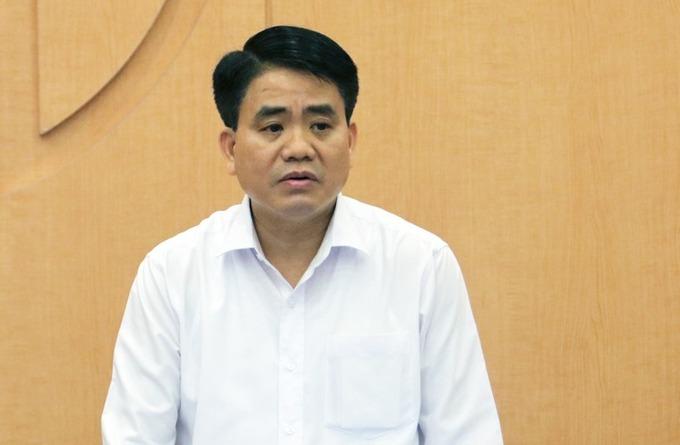 Ông Nguyễn Đức Chung khi còn giữ chức Chủ tịch UBND Hà Nội. Ảnh: Võ Hải