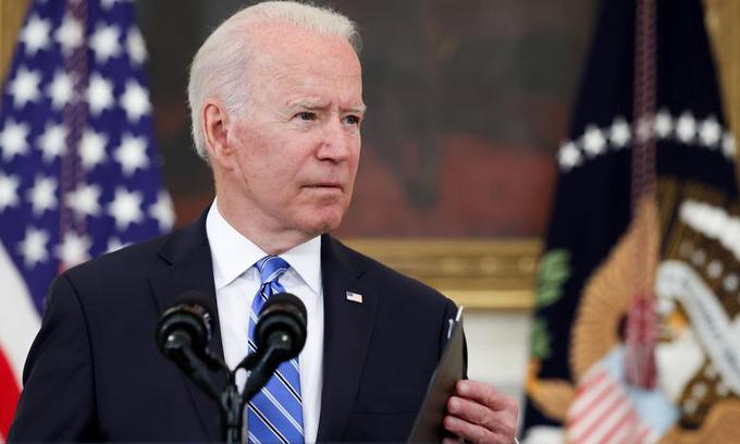 Tổng thống Mỹ Joe Biden phát biểu tại Nhà Trắng hôm 19/7. Ảnh: Reuters.