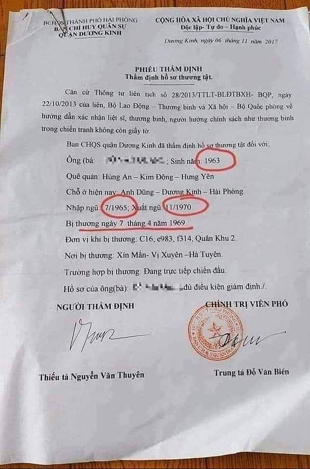 Hải Phòng xác minh việc cựu quân nhân 2 tuổi nhập ngũ, 7