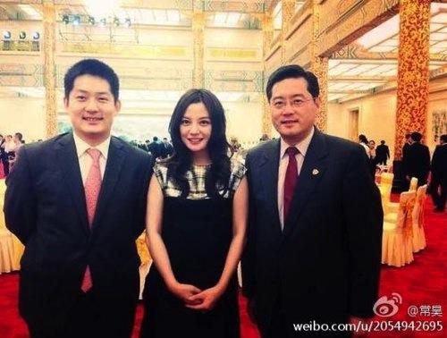 Triệu Vy vinh hạnh dự tiệc chiêu đãi tổng thống Hàn | Triệu Vy tiệc với tổng thống Hàn,Triệu Vy và tổng thống Hàn,