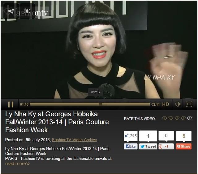 Đoạn clip sau đó được đăng tải lại trên website của FashioneTV.