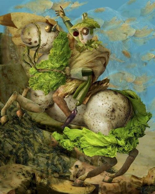 Napoleon trên chú ngựa khoai tây.