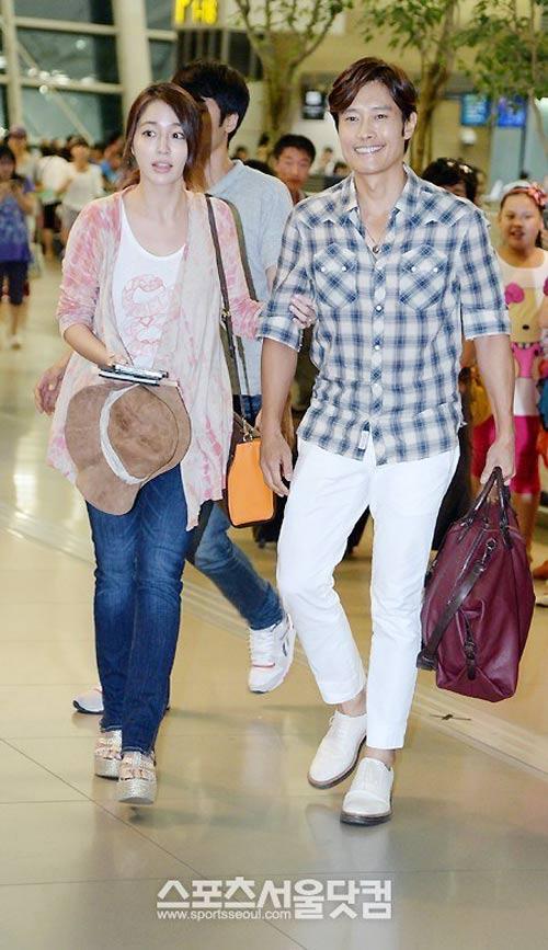 Bắt gặp vợ chồng Lee Byung Hun đi trăng mật - 9