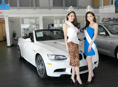 Quế Vân được ông bầu Minh Chánh dẫn đi mua xế hộp   Ca sĩ quế vân,hoa hậu người việt thế giới 2013,Quế Vân 2013,Ông bầu Minh Chánh