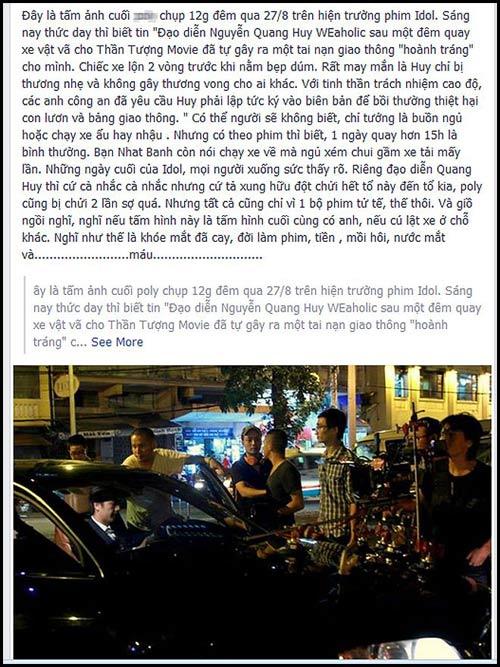 Ông xã Phạm Quỳnh Anh bị tai nạn ô tô - 2