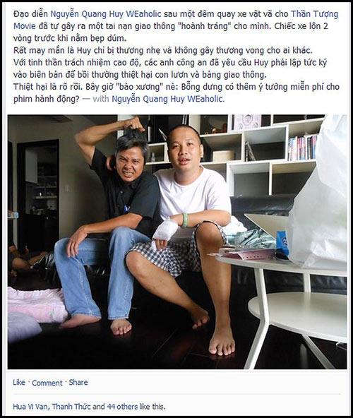 Ông xã Phạm Quỳnh Anh bị tai nạn ô tô - 1
