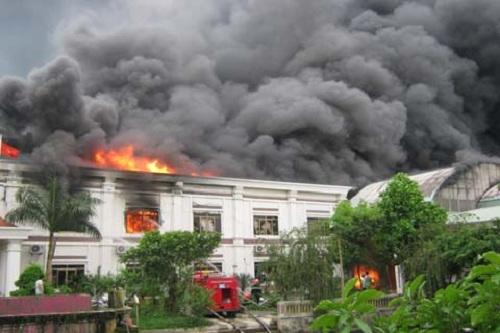 cháy nhà xưởng