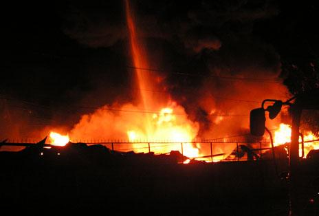 cháy tổng kho Sacombank