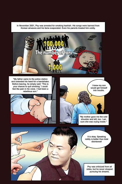 psy, truyện tranh