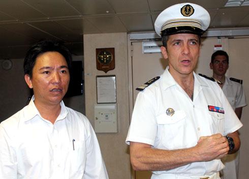 Chiến hạm hàng đầu của Pháp đến Việt Nam