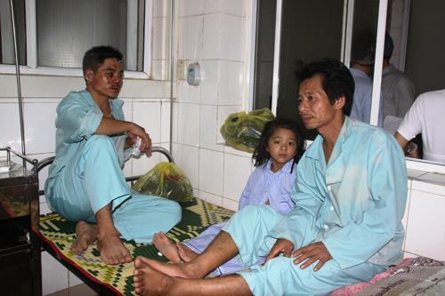 Một số nạn nhân bị thương được cấp cứu tại BV Đa khoa tỉnh Quảng Trị 1