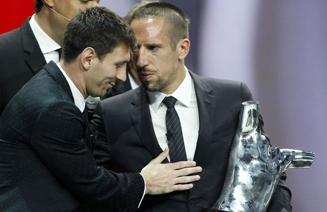 Messi, Ribery