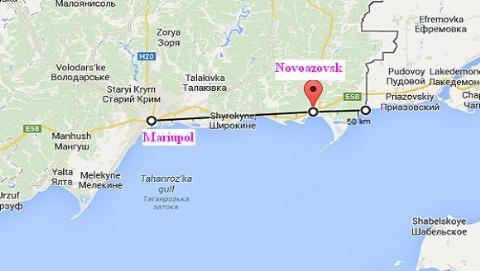 Vị trí chiến lược của thành phố Novoazovsk